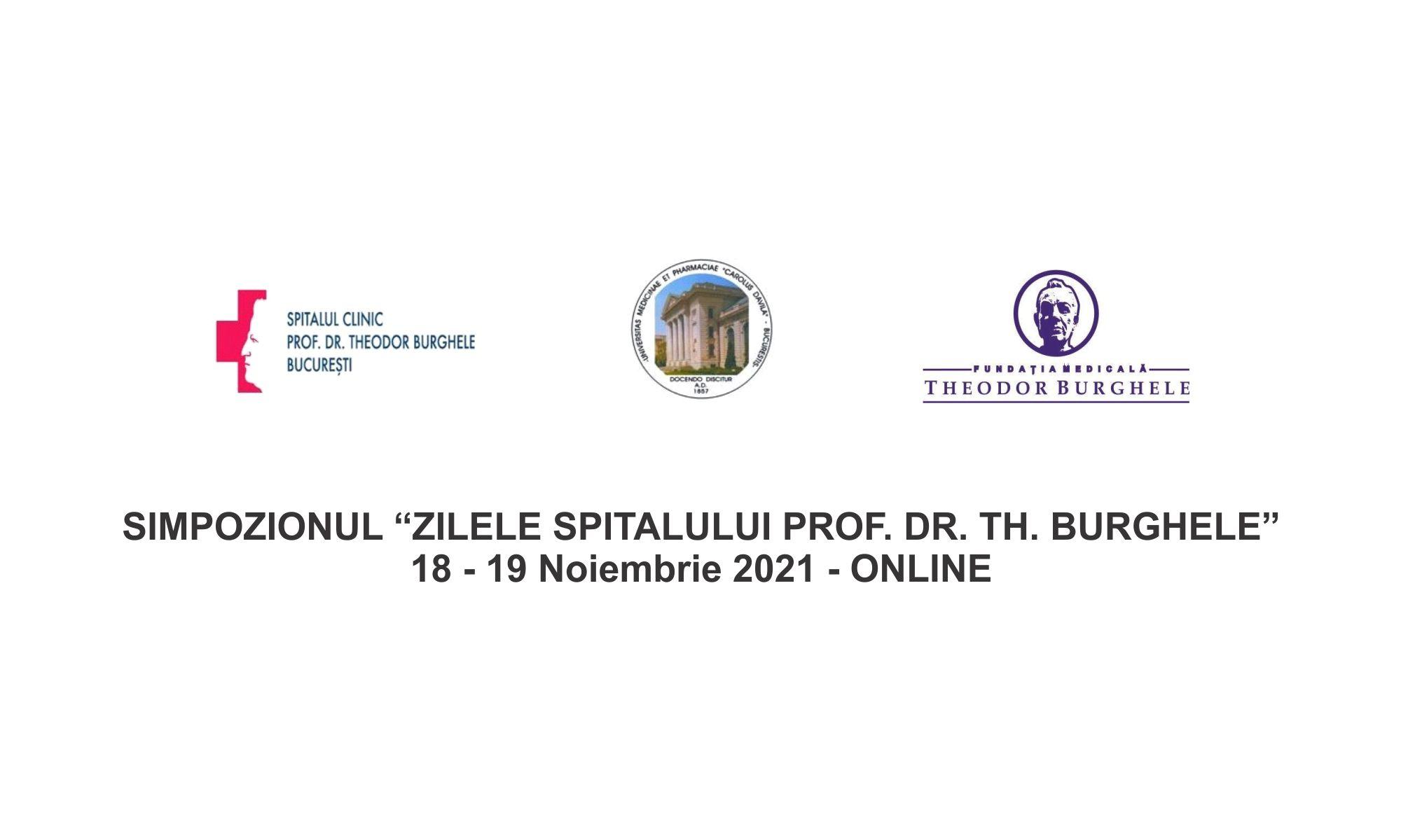 """Inregistrare 2021 - SIMPOZIONUL """"ZILELE SPITALULUI PROF. DR. TH. BURGHELE"""""""